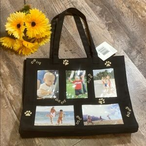 Dog Lovers Picture Tote | Black Pet Memory Bag